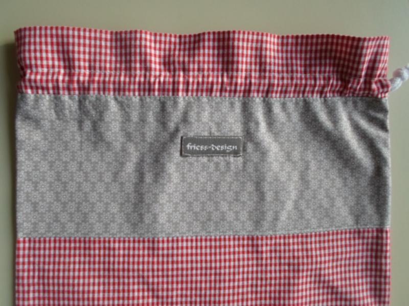 Kleinesbild - Brotbeutel *speciale* Baumwolle rot-kariert/ sottile von friess-design