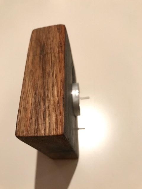 Kleinesbild - Teelichthalter aus Eichenholzfassdauben