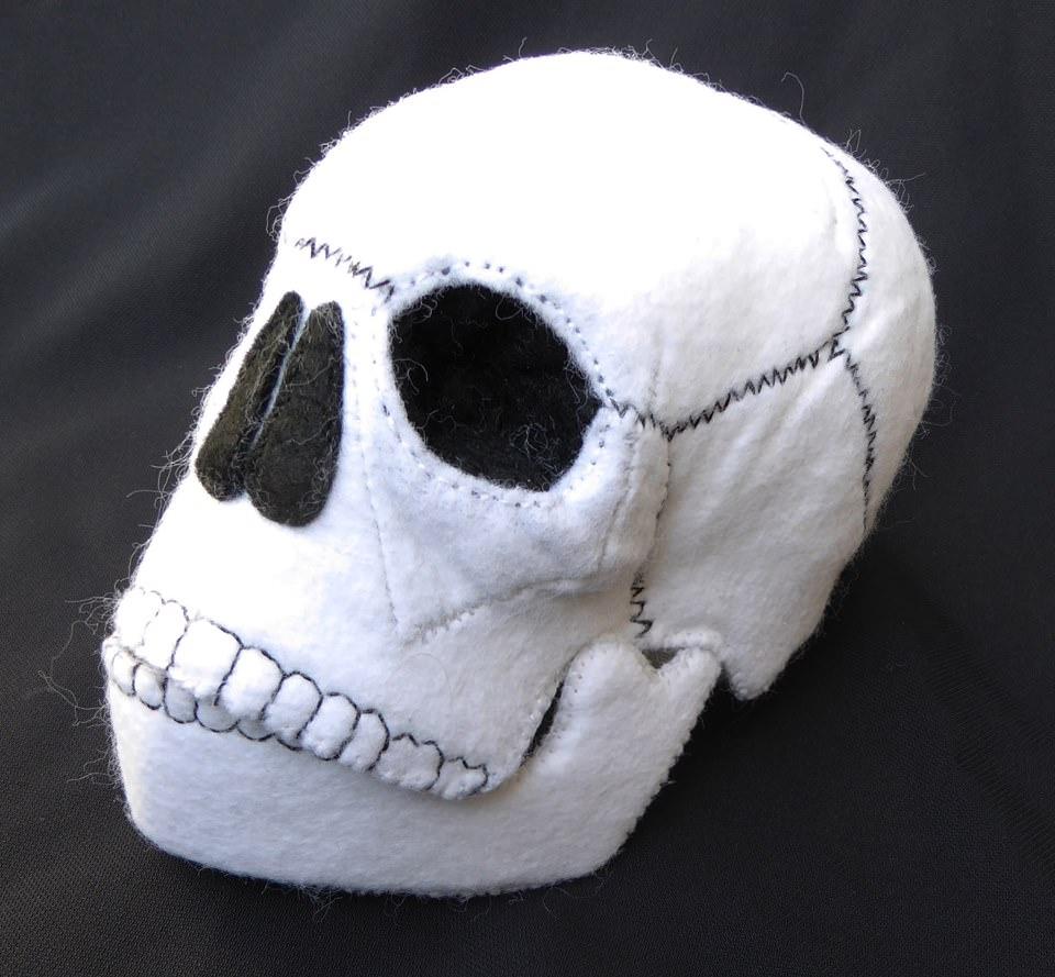 Kleinesbild - Totenkopf aus Filz