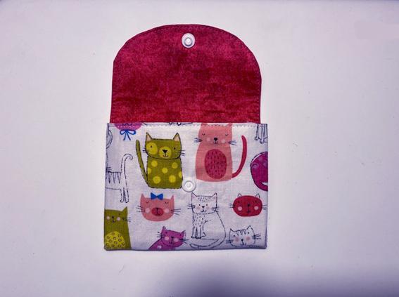 Kleinesbild - Kleine_Börse_mit_kleinen_Katzen_und_ 2 Fächern_12 x 10cm