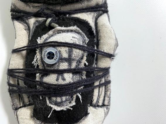 Kleinesbild - Zombi_Monster_Puppe_25cm-genäht, bestickt, appliziert