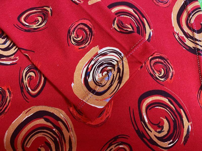 Kleinesbild - Longshirt mit Motivdruck Rot mit Kringeln, 44/46 Jersey