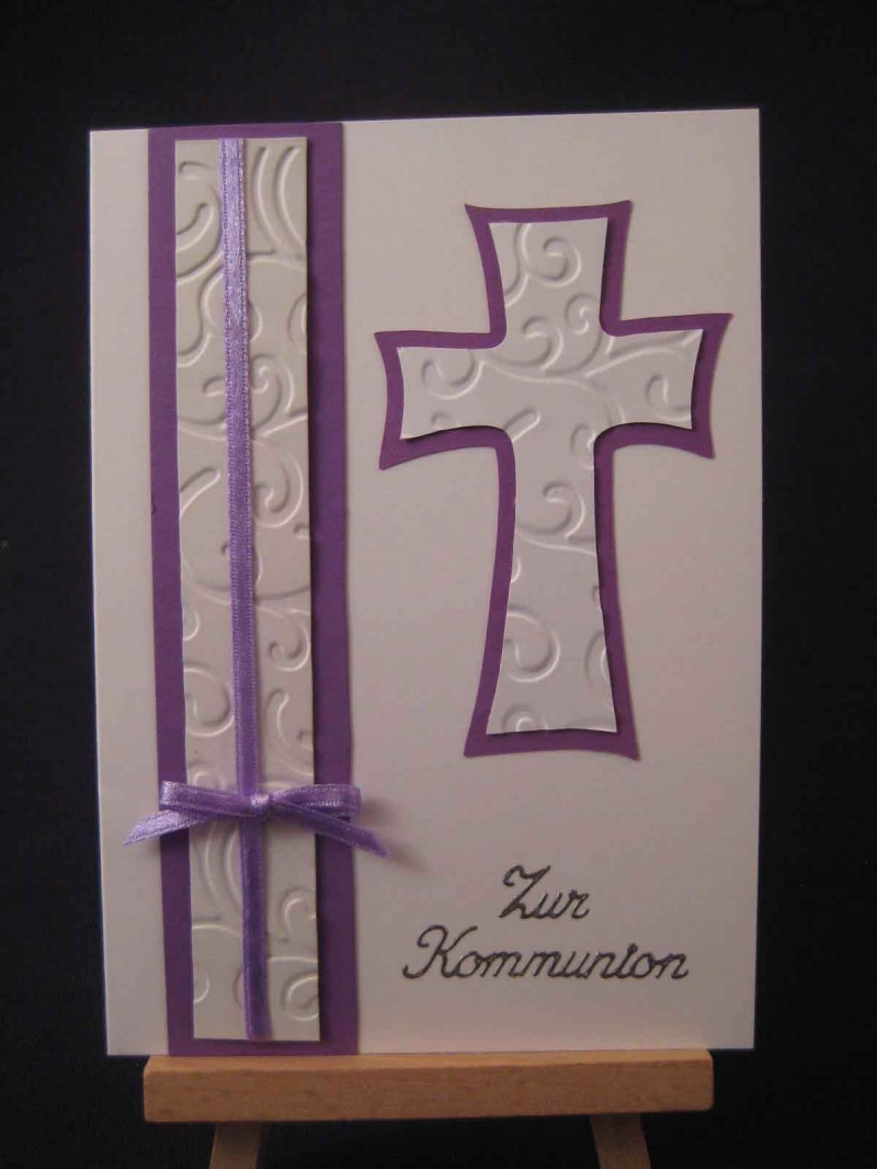 - Karte / Klappkarte / Glückwunschkarte zur Erstkommunion / Kommunion  - Karte / Klappkarte / Glückwunschkarte zur Erstkommunion / Kommunion