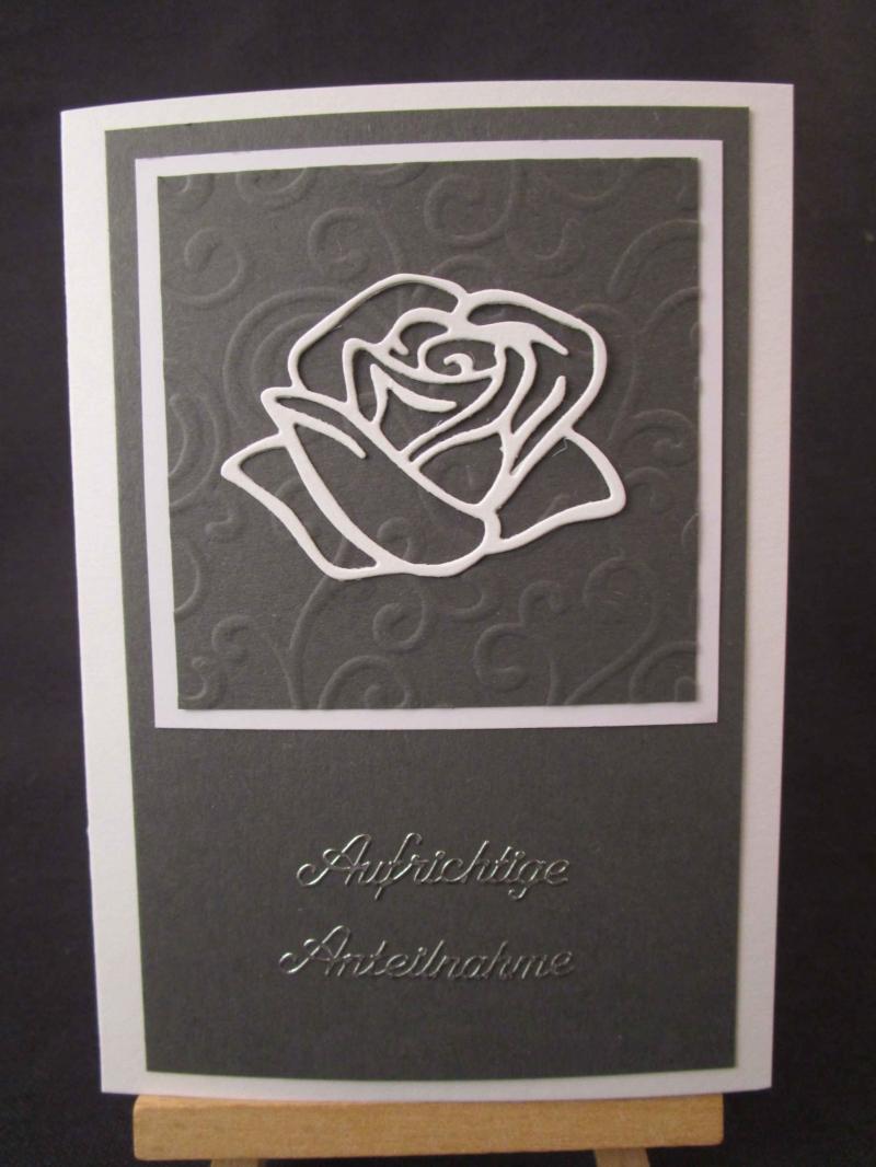 - Karte / Klappkarte - Stilvolle Trauerkarte / Beileidskarte - Karte / Klappkarte - Stilvolle Trauerkarte / Beileidskarte