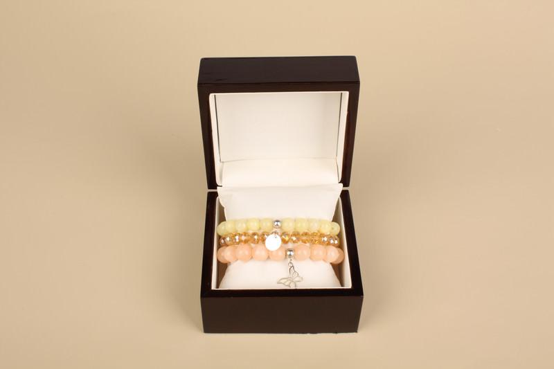 Kleinesbild - 3 Armbänder- Naturstein- Frühlingsfarben