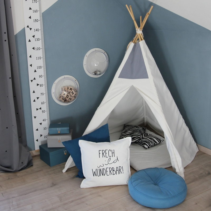 Kleinesbild - Bügelbild frech wild wunderbar, Aufbügler für Kissenbezug, Kissen, Kissenhülle, schwarz oder weiß, Kinderzimmer