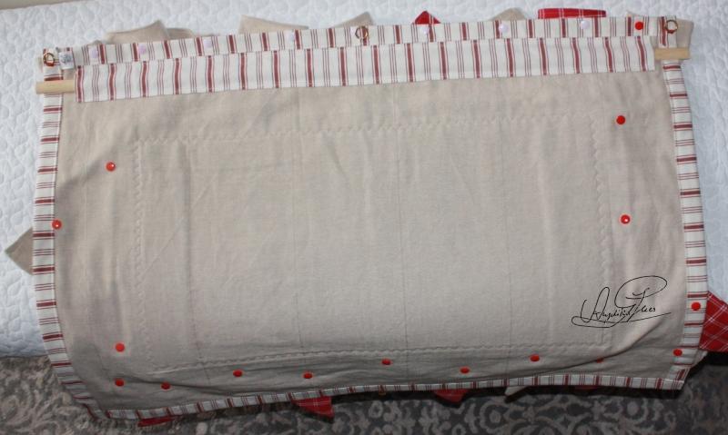 Kleinesbild - handgefertigter Adventskalender/ Weihnachtskalender/ Wandbehang  aus Stoff, zum Befüllen, Unikat