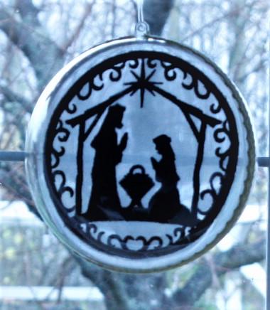 - Fensterschmuck,- Weihnachtsfensterschmuck,- Kugelkrippenbild,- Weinachtsdeko,-Stickbild Scherenschnitt - Fensterschmuck,- Weihnachtsfensterschmuck,- Kugelkrippenbild,- Weinachtsdeko,-Stickbild Scherenschnitt