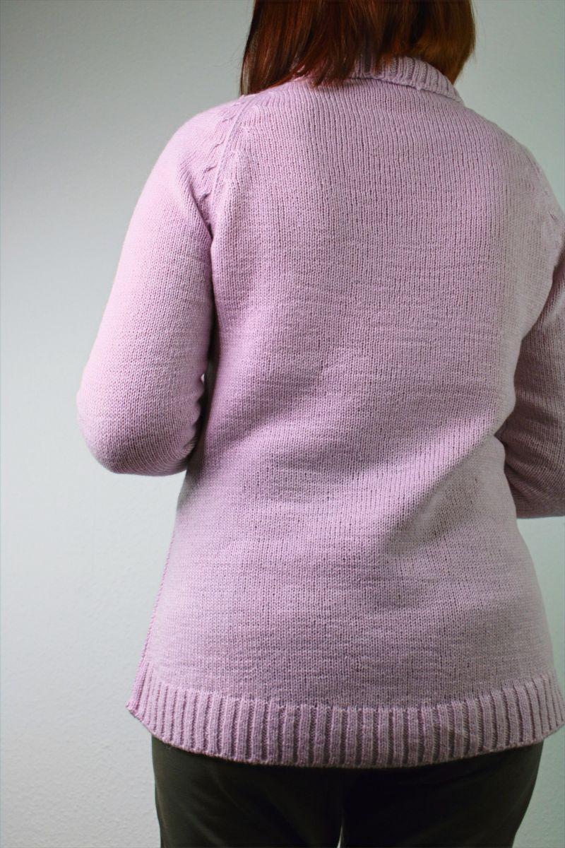 Kleinesbild - Raglan Pullover mit Rollkragen aus Kaschmir Alpaka Wolle Gr 38-40
