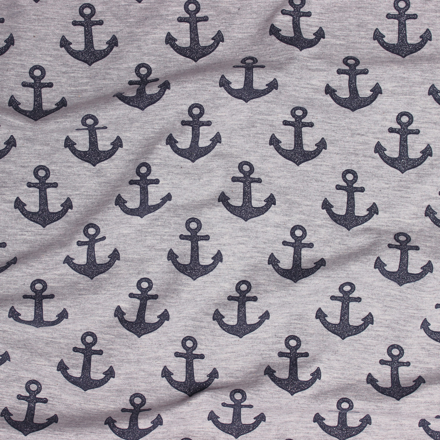 - Jersey French Terry Glitzer Anker Textil Bekleidungsstoff - Jersey French Terry Glitzer Anker Textil Bekleidungsstoff