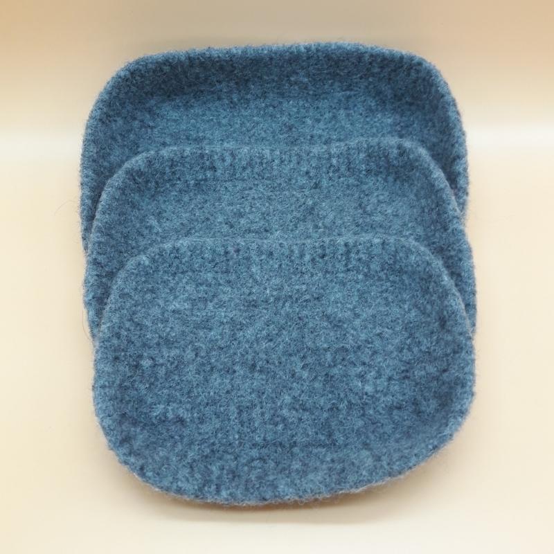 Kleinesbild - moderne gefilzte leichte Schmuckschalen in grau