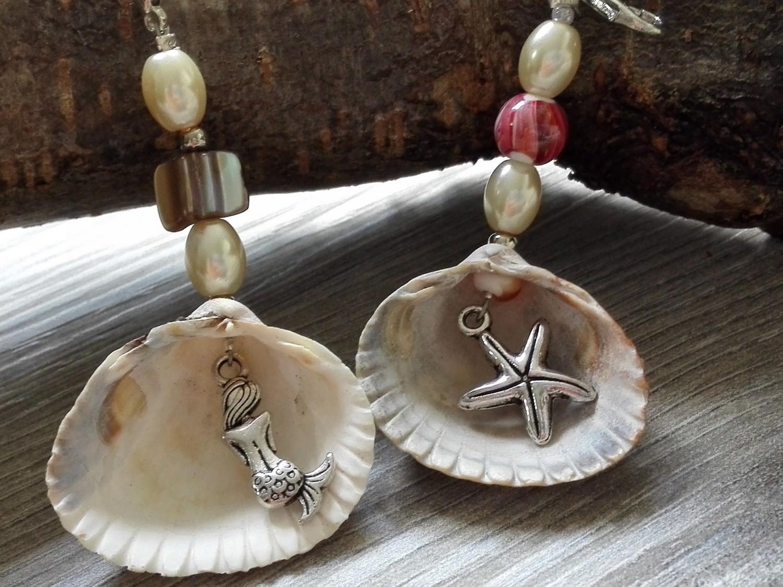 - Geschenk- und Taschenanhänger aus echten Muscheln - Geschenk- und Taschenanhänger aus echten Muscheln