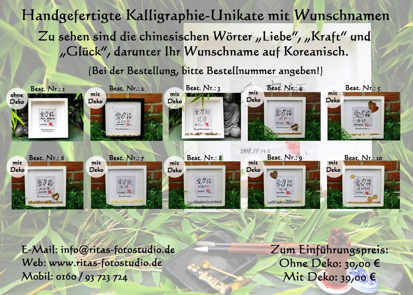 Kleinesbild - Ein Unikat für sich selbst oder für die Liebsten handgefertigte Kalligraphie!