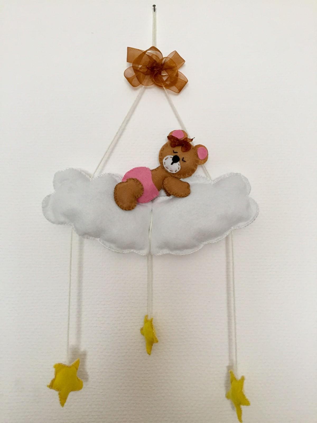 - Teddy-Bär auf einer Wolke - Mobile / Wanddeko - Teddy-Bär auf einer Wolke - Mobile / Wanddeko