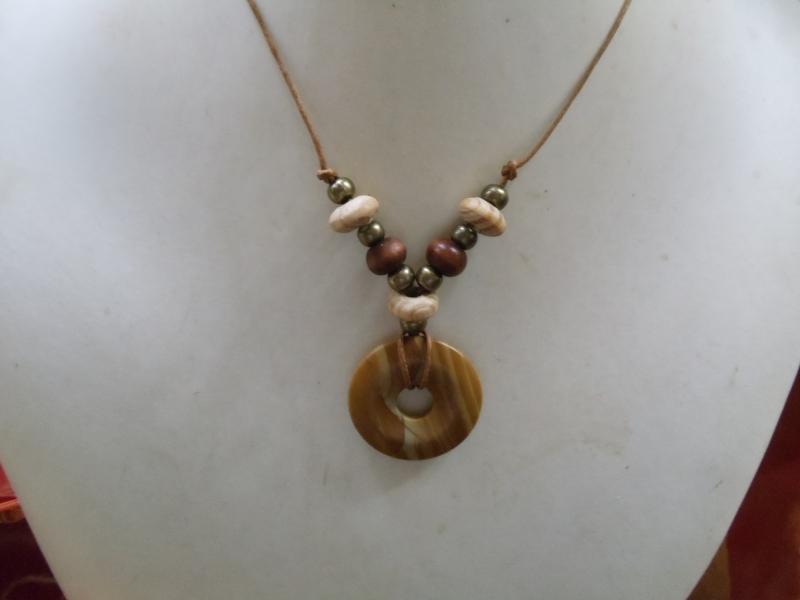 Kleinesbild - Grazy Lace Gold mit Holz Hippie Ethno