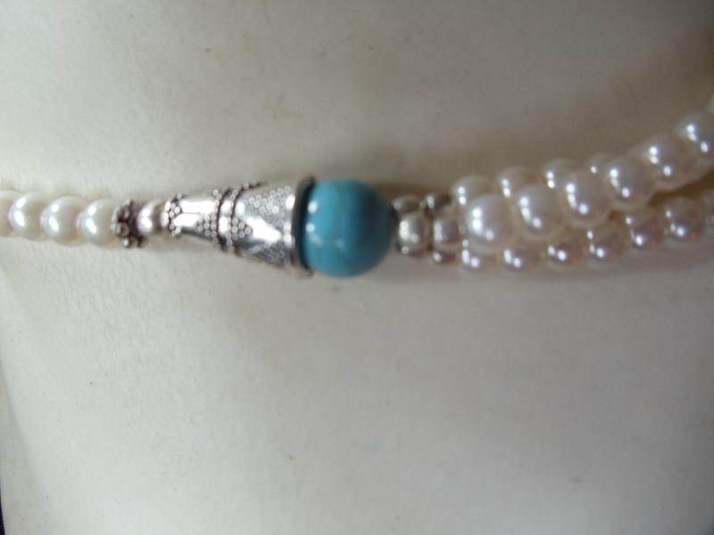 Kleinesbild - Zartes Biwa Perlen-Set 3-teilig Jewelry Neclaces