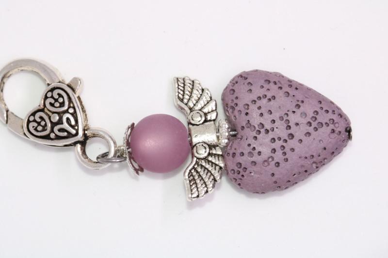 - Wunderschöner Engel / Schutzengel aus Polarisperlen und gefärbter Lava Perle - Wunderschöner Engel / Schutzengel aus Polarisperlen und gefärbter Lava Perle