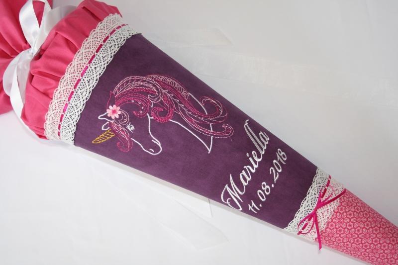 Kleinesbild - Schultüte Zuckertüte aus Stoff Einhorn