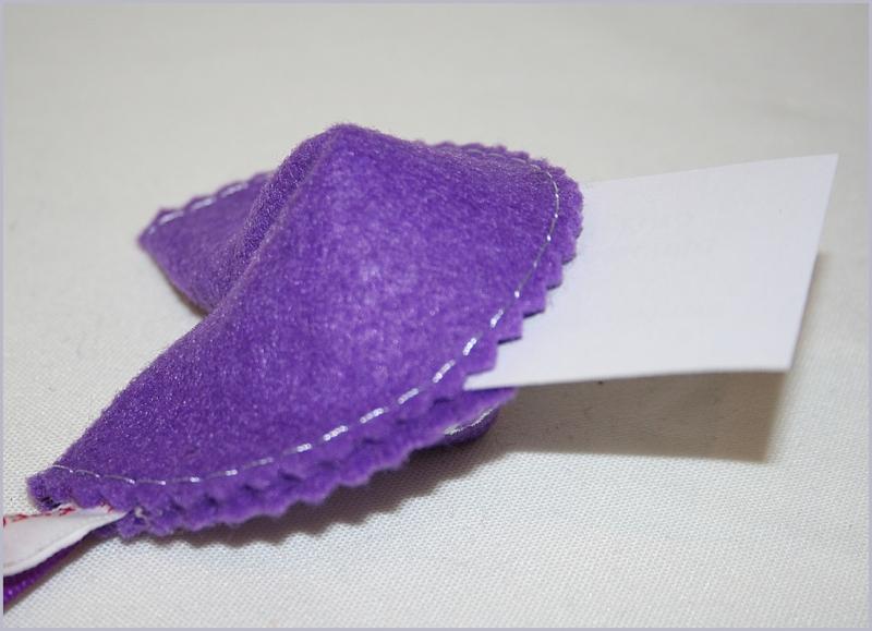 Kleinesbild - Glückskeks aus Filz zu jedem Anlass in vielen Farben erhältlich