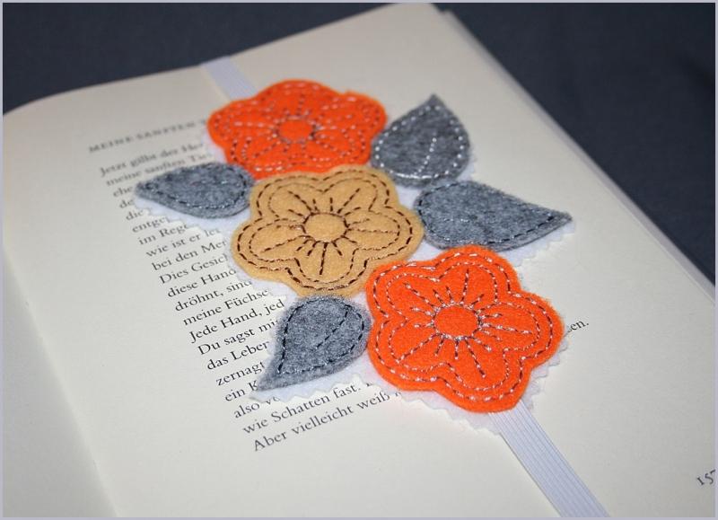 - Lesezeichen aus Filz Blumentraum - Lesezeichen aus Filz Blumentraum