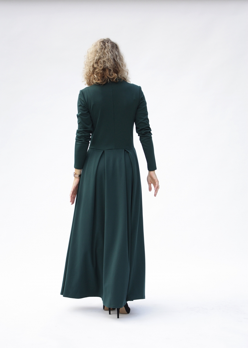 Kleider : Langarm-Maxikleid, lässige Maxikleider, grünes ...