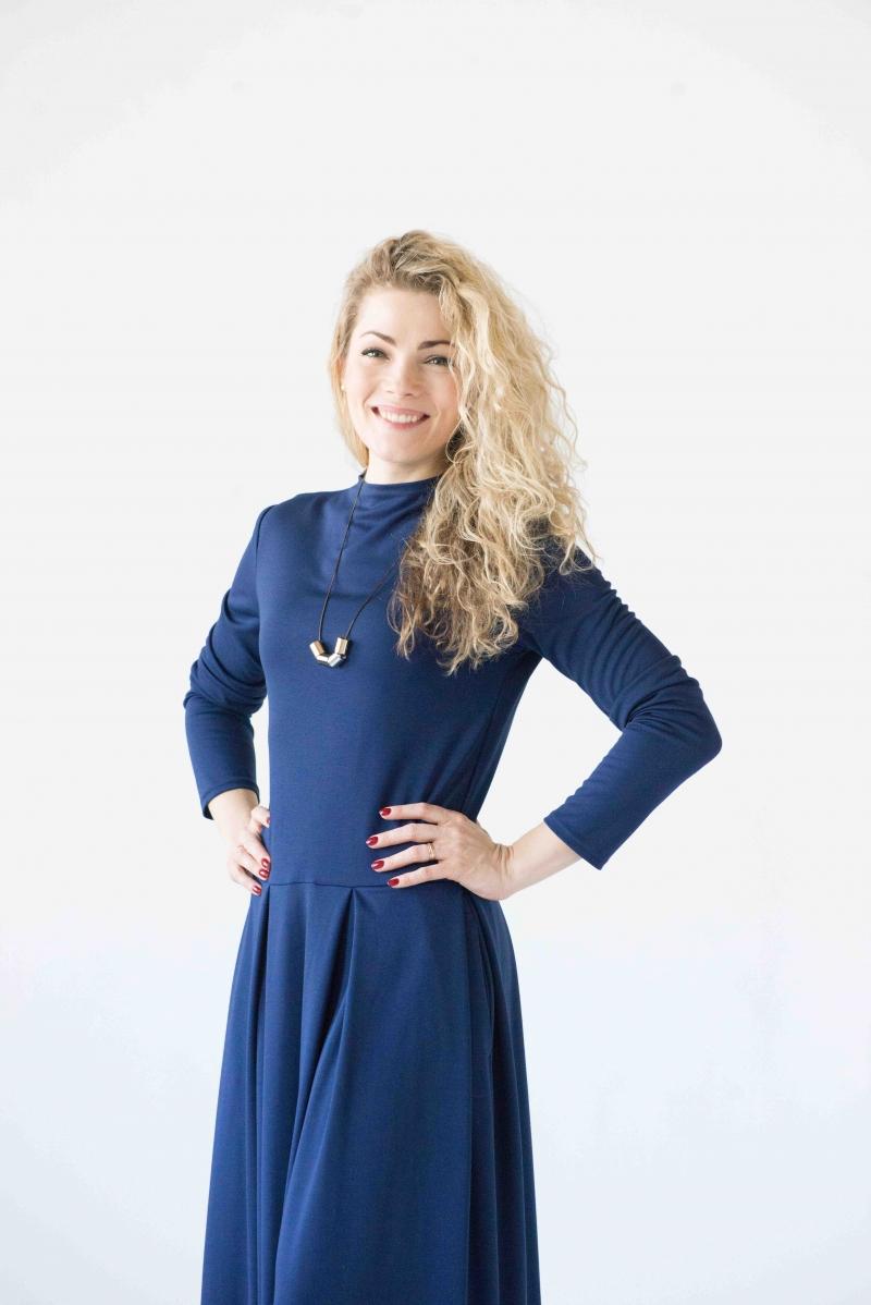 Mode : Blaues langes Kleid, langarm-Maxikleid, lässige ...