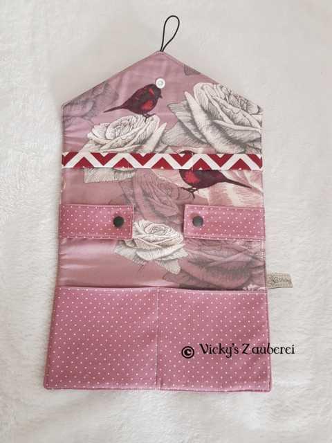 - Handgefertigtes Haarspangen Etui aus Stoff - Handgefertigtes Haarspangen Etui aus Stoff