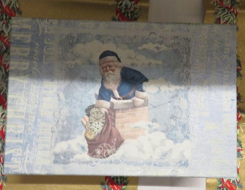 Kleinesbild - Papp Art Schachtel Weihnachten, groß, Decoupage