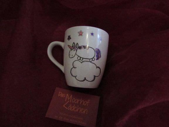 -  Personalisierter handbemalter Kaffeebecher Einhorn -  Personalisierter handbemalter Kaffeebecher Einhorn