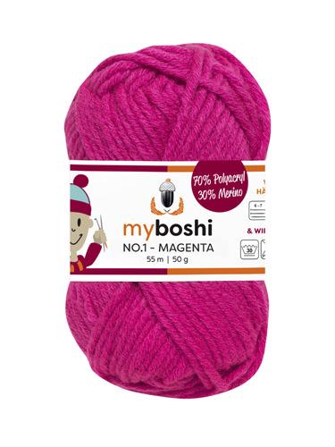 - My Boshi No 1. - Magenta 162 Lieblingsfarben - Häkelgarn kaufen - My Boshi No 1. - Magenta 162 Lieblingsfarben - Häkelgarn kaufen