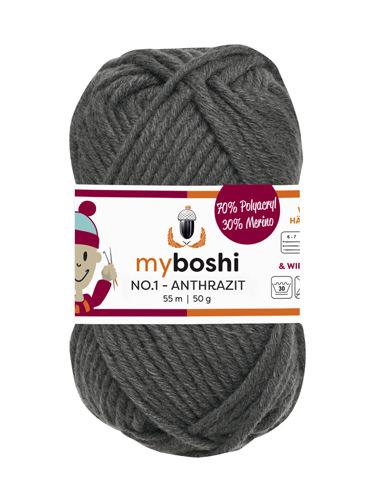 - My Boshi No 1. -  50g Anthrazit 195 Lieblingsfarben - Häkelgarn kaufen - My Boshi No 1. -  50g Anthrazit 195 Lieblingsfarben - Häkelgarn kaufen