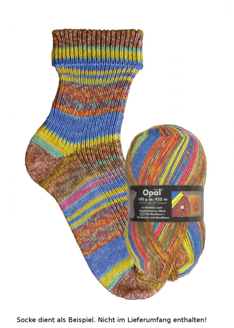 - Opal Hundertwasser Sockenwolle - 2100 Die Nachbarn I - Opal Hundertwasser Sockenwolle - 2100 Die Nachbarn I