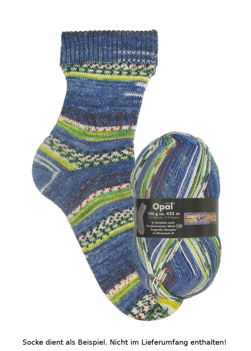 - Opal Hundertwasser Sockenwolle - 1437 Singender Dampfer - Opal Hundertwasser Sockenwolle - 1437 Singender Dampfer