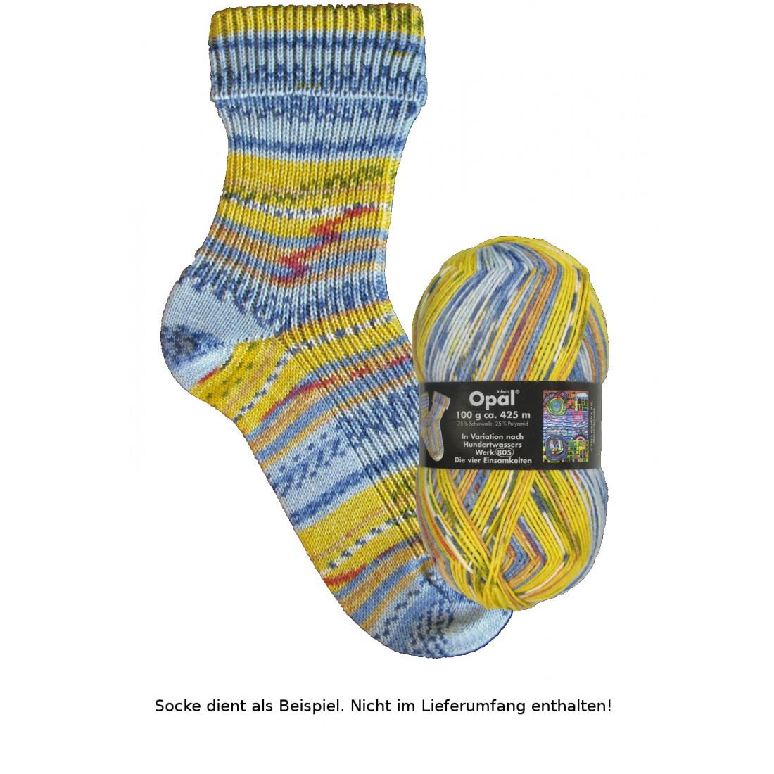 - Opal Hundertwasser Sockenwolle 100g - 2105 Die vier Einsamkeiten - Opal Hundertwasser Sockenwolle 100g - 2105 Die vier Einsamkeiten