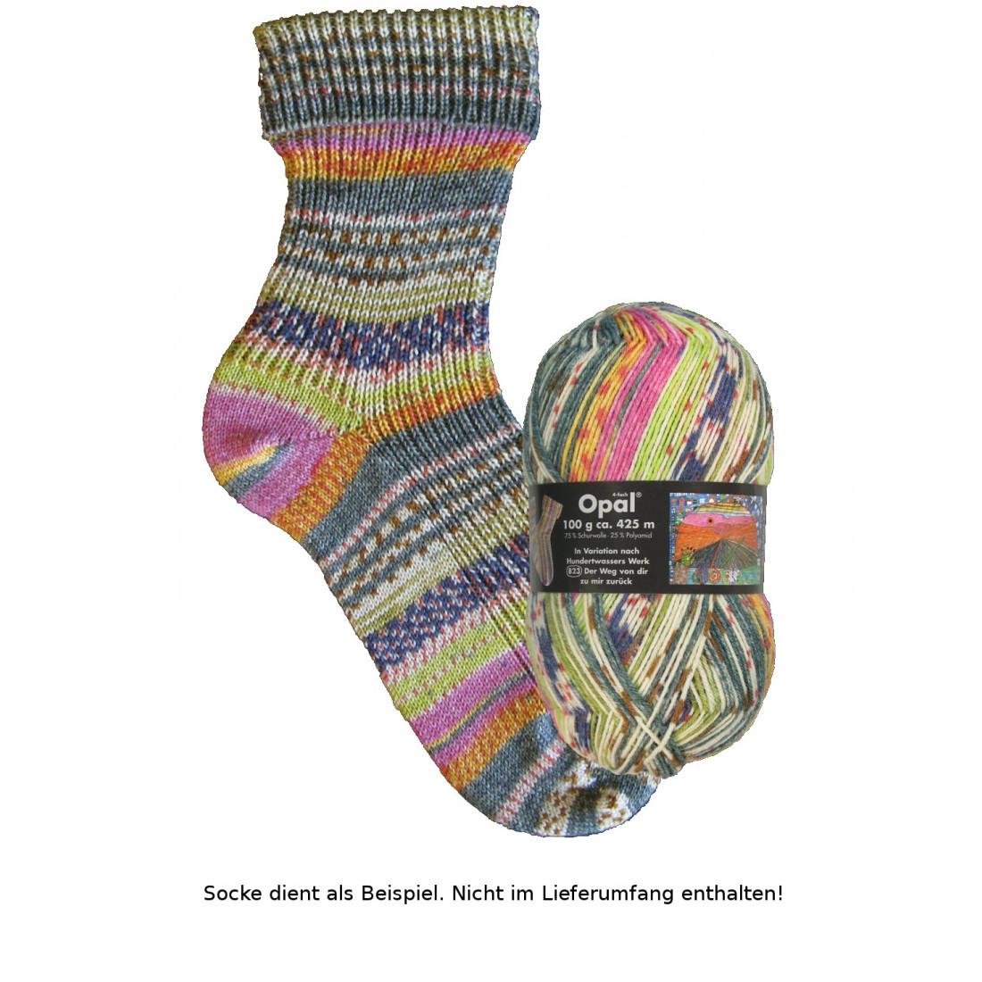 - Opal Hundertwasser Sockenwolle - 2107 Der Weg von dir zu mir zurück - Opal Hundertwasser Sockenwolle - 2107 Der Weg von dir zu mir zurück