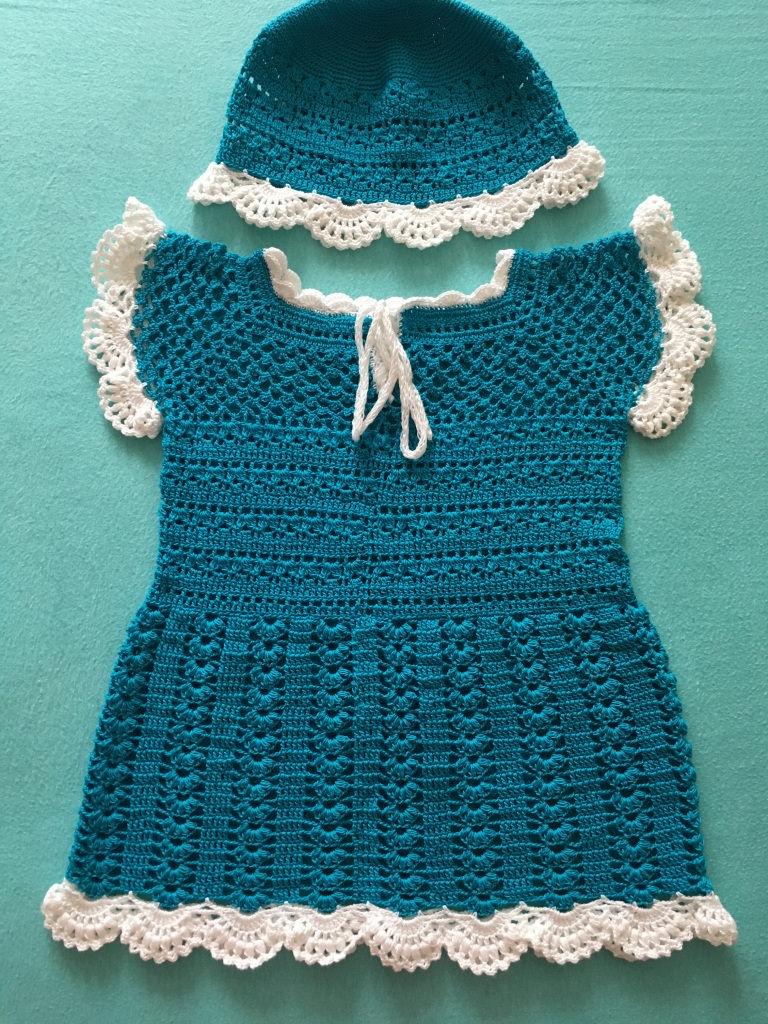 - Baby-Kleidchen türkish / weiß - Baby-Kleidchen türkish / weiß