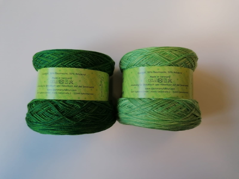Kleinesbild - McLana Bobbel Hellgrün-Dunkelgrün Verlaufsgarn