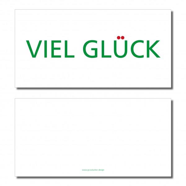 """Kleinesbild - Grußkarte """"VIEL GLÜCK"""" ♡ selbst entworfen"""" ♡ inkl. Kuvert und Versand plus Gratis-Karte"""