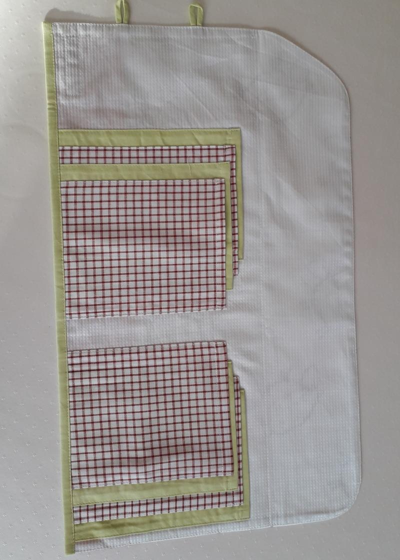 Kleinesbild - Tasche für Rundstricknadeln mit Schafen in Patchwork