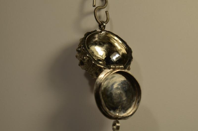 Kleinesbild - Handgedertigter 925er Silberanhänger - Seeigel 2 Nr 31