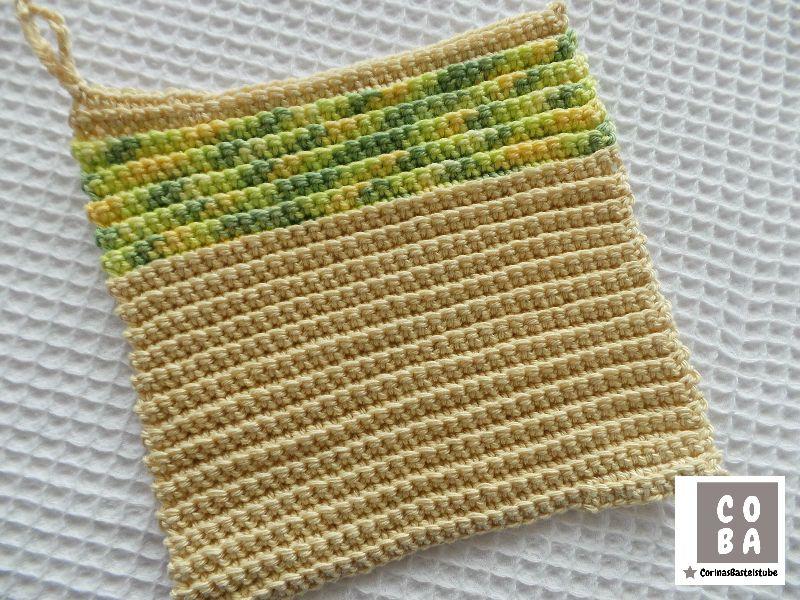 Kleinesbild - Spültuch, Spüllappen, Spüli, Schwamm, gehäkelt bunt, 100 % Baumwolle nachhaltig umweltbewusst
