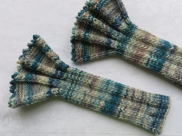 - Armstulpen mit Rüschen handgestrickt kaufen - Armstulpen mit Rüschen handgestrickt kaufen