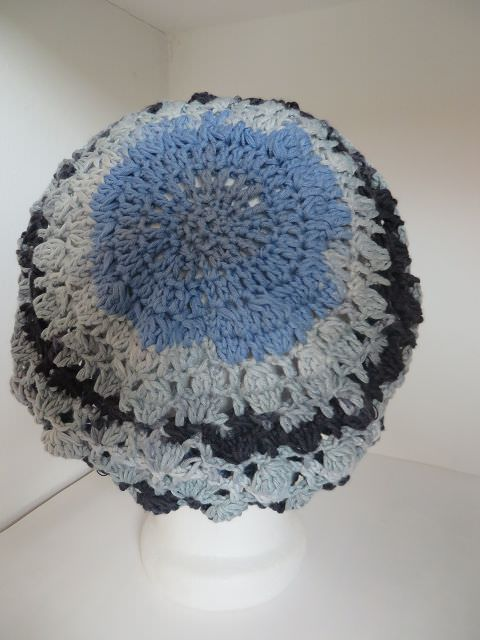 Kleinesbild - Häkelmütze blaugrau