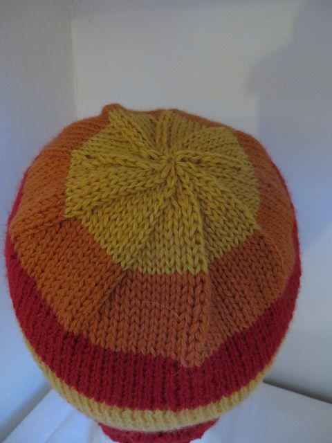 Kleinesbild - Mütze gestreift Onesize