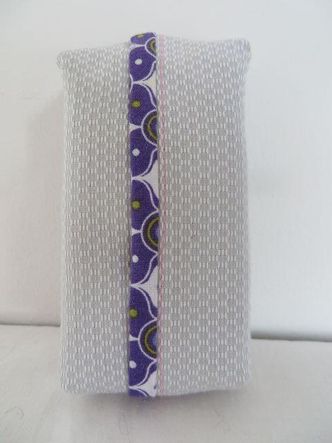 Kleinesbild - Tatüta silber mit lila gemustertem Innenfutter