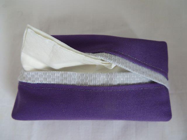 Kleinesbild - Tatüta lila mit silbernem Innenfutter
