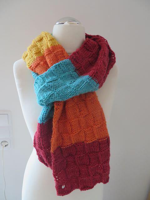 Kleinesbild - Toller farbenfroher  Schal im modernem Color Blocking Style