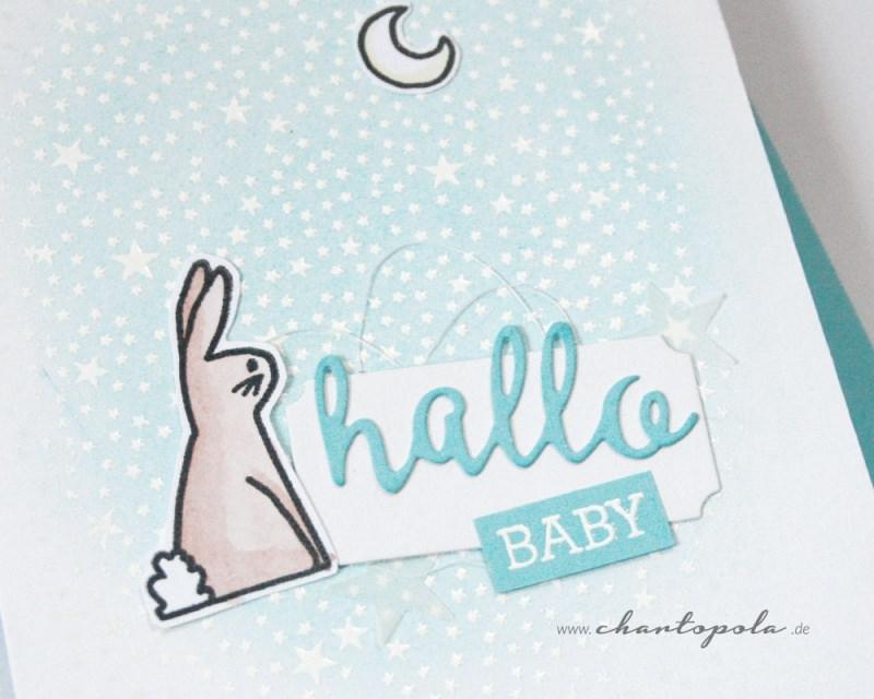 Kleinesbild - Babykarte, Glückwunschkarte Geburt Junge, handgemacht