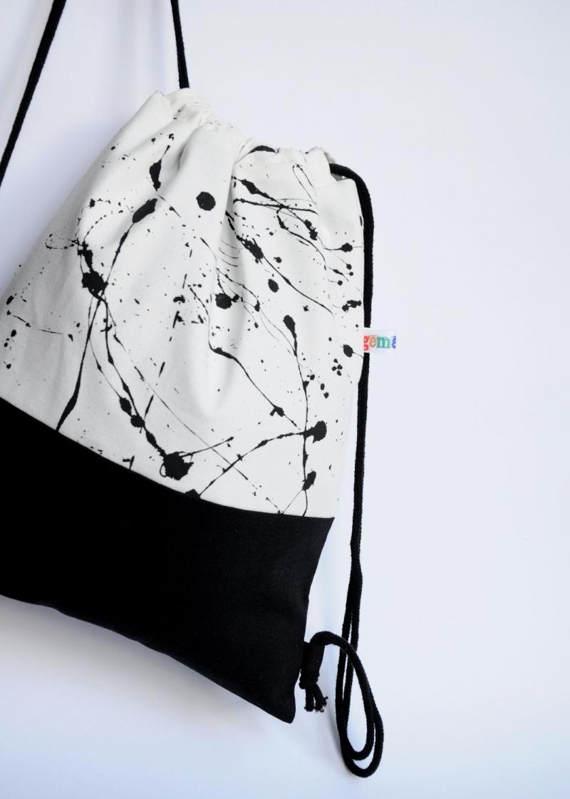 Kleinesbild - Turnbeutel mit Innentasche // Canvas // Rucksack // Festivalbag