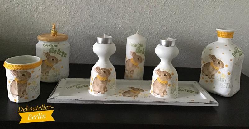 - Ostern ♥  7 teiliges Oster Set   ♥️ Osterhase ♥ upcycling ♥ Unikat    - Ostern ♥  7 teiliges Oster Set   ♥️ Osterhase ♥ upcycling ♥ Unikat
